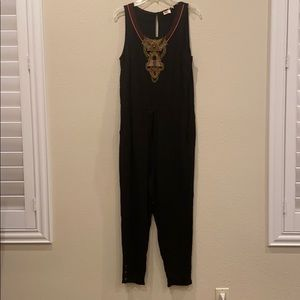 Anthropologie Lilka Allete Beaded Jumpsuit Romper